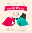 We Are Getting Married Retro Greeting Card with vector image vector image
