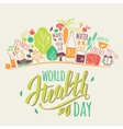 World health day concept vector image vector image
