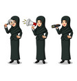 businesswoman with veil looking for poses vector image