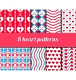 Heart Seamless Pattern 1 vector image