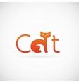 Cat Concept Symbol Icon or Logo Template vector image