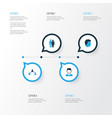 people colorful icons set collection of contact vector image