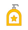 soap dispenser bottle icon vector image