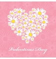 daisies valentines card vector image