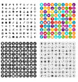 100 team building icons set variant vector image vector image
