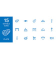 15 plate icons vector image vector image