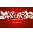 2015 Christmas and New Year Greeting Card vector image vector image