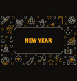 2019 new year modern line horizontal frame vector image