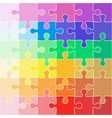 abstract color background icon jigsaw vector image vector image