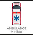 ambulance minibus car means of transportation vector image vector image
