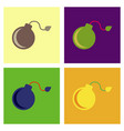 assembly flat icons dangerous bomb vector image vector image