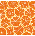 background of many wealthy orange slices on each o vector image