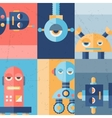 Background with robot in flat style vector image vector image