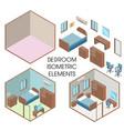 bedroom interior constructor flat vector image
