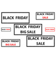 black friday - stamp vector image