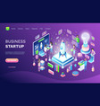 business startup online web banner invention vector image