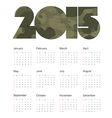 camouflage calendar 2015 design vector image vector image