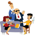 Cartoon dinner guests vector image vector image