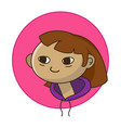 cartoon little girl flat vector image vector image