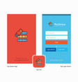 company files copy splash screen and login page vector image vector image