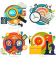 consulting management seo and strategy concept vector image vector image