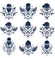 criminal tattoo gang emblem or logo with vector image vector image