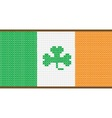 Cross Stitch Irish Flag with Shamrock vector image vector image