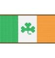 Cross Stitch Irish Flag with Shamrock vector image