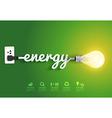 Energy saving and simple light bulb vector image vector image