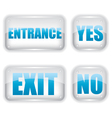 Exit and entrance glass icon vector image