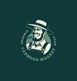 farmer logo vector image vector image