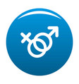 female and man gender symbol icon blue vector image