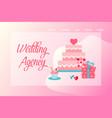 flat wedding agency banner vector image vector image