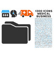 folders icon with 1300 medical business icons vector image vector image