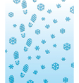 foot prints on snow vector image vector image