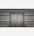 futuristic metal sliding doors in spaceship vector image vector image