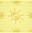 golden sun seamless pattern vector image vector image