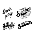 Hand drawn lettering elements for Summer vector image