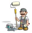 Handyman Painter Gray Uniform vector image vector image