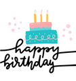 happy birthday greeting card template flat vector image vector image