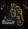 happy diwali banner vector image