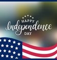 happy independence day united states america vector image vector image