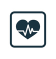 heart pulse icon Rounded squares button vector image vector image