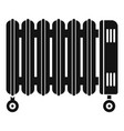house oil radiator icon simple style vector image vector image