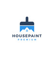 house paint logo icon vector image