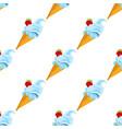 ice cream cone seamless pattern for design vector image