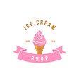 italian gelato ice cream logo template vector image