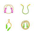 jump rope icon set cartoon style vector image vector image