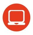 laptop computer portable icon vector image vector image