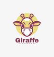 logo giraffe simple mascot style vector image vector image